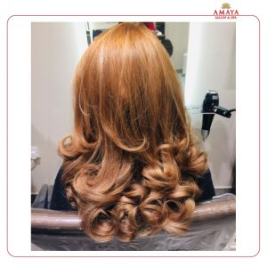 Hair Color and Blowdry